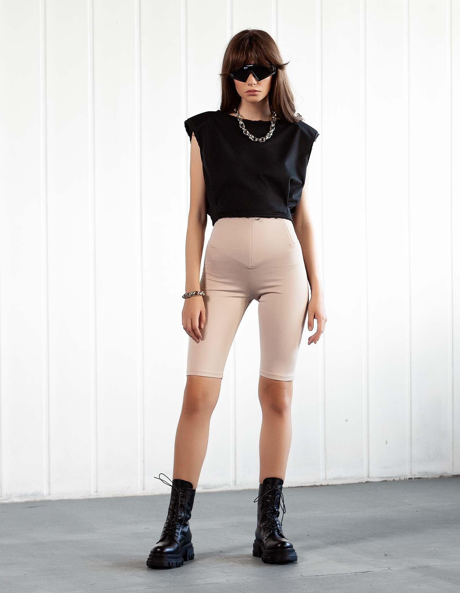 Pantaloni corset nude KYLIE
