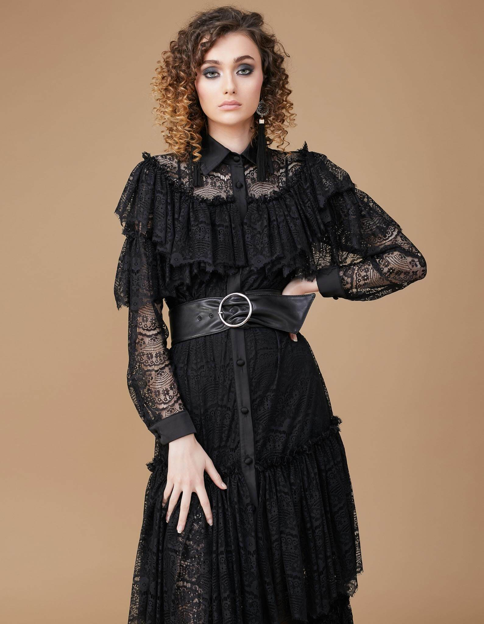 SUMMER Black Lace Long Dress