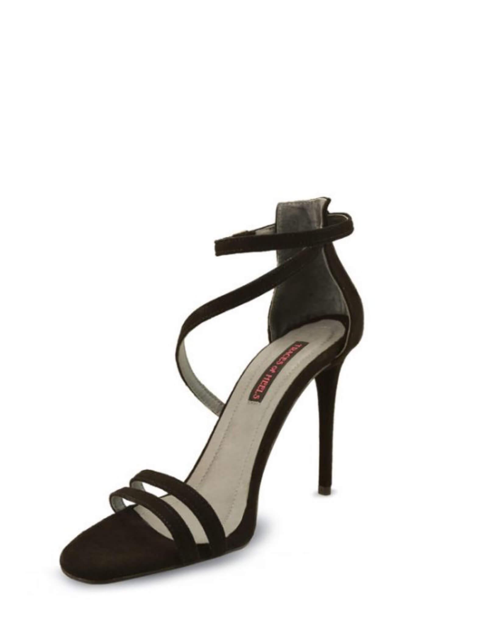 Sandale piele neagra MIRROR MIRROR ON THE WALL